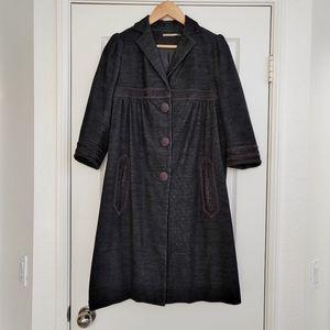 Max Studio Long Black Coat